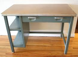 Small Steel Desk Industrial Steel Desk With Built In Shelves Mfg Co