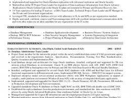 terrific sql server dba resume 1 oracle dba resume resume example
