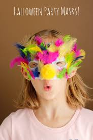 make halloween masks for a party make and takes