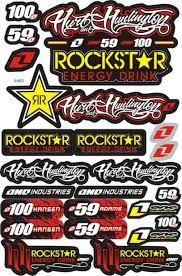 motocross bike makes aliexpress com buy new 3m rockstar decal sticker atv dirt bike
