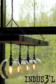 Dining Room Chandeliers Rustic Reclaimed Wood Beam Chandelier With Globes Rustic Dining Room