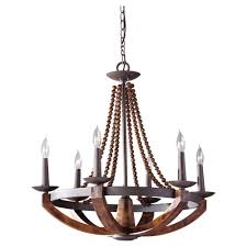 Iron And Wood Chandelier Feiss Adan 6 Light Rustic Iron Burnished Wood Chandelier F2749 6ri