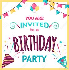 wedding invitation clown birthday greeting card vector show clowns birthday party invitation template with decoration elements