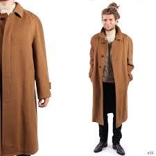 classic mens camel coat soft wool winter coat mens coat