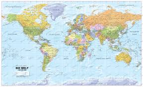 Framed Map Of The World by World Map Poster Framed Or As Bulletin Board