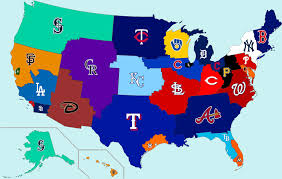 Yankee Stadium Map Working On Photoshop Skills Made A Geographic Mlb Fanbases Map