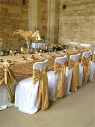 wedding wishes of gloucestershire heavy gold jacquard ties ivory chair covers at woodchester