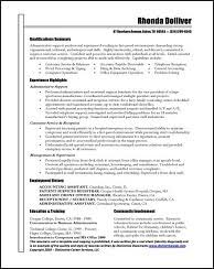 Sample Administrative Assistant Resume by Resume Samples For All Professions And Levels