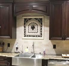 kitchen backsplash metal medallions grapes mosaic tile medallion kitchen backsplash mural mosaics