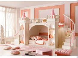 Princess Bunk Bed With Slide Bedroom White And Pink Castle Bunk Bed With Ladder And Slide Plus