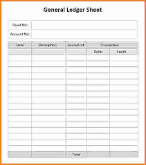 Free Ledger Template by 7 General Ledger Template Excel 2010 Ledger Review