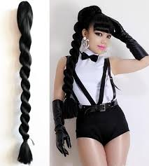 clip on ponytail clip in on ponytail kanekalon jumbo braiding hair soft