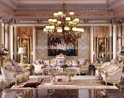 European Living Room Furniture Luxury Baroque Bright Color Living Room Sofa Set Royal