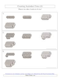Coin Worksheets Counting Australian Coins No Dollar Coins Sorted Version A