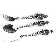 high quality special 316l stainless steel silver tableware cool
