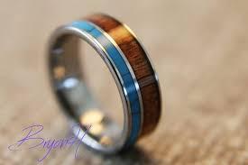wood inlay wedding band inlay wood tungsten carbide ring wood wedding bands tungsten