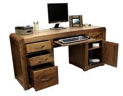 Cheap Computer Desks Uk Shiro Walnut Pedestal Computer Desk