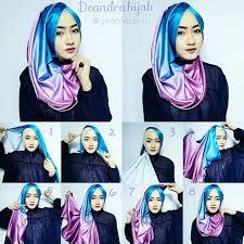 tutorial jilbab dua jilbab 83 gambar terbaru tutorial hijab pesta pashmina satin untuk kamu