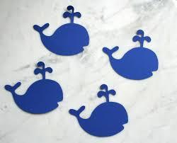20 whale cutouts preppy whale decorations under the sea