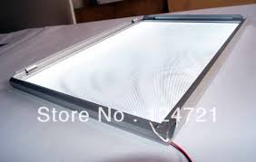 lighted display stand for glass art slim aluminum frame led lightbox advertise stand display in led