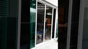Jml Door Curtain by Stainless Steel Mosquito Net For Sliding Door Youtube