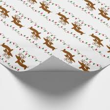 dachshund wrapping paper dachshund christmas wrapping paper zazzle
