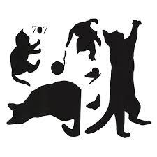 cat meow diy wall stickers livingroom bedroom home decor