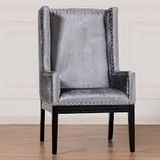 Velvet Accent Chair Collection In Velvet Accent Chair Tribeca Grey Velvet Chair