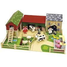 Toy Barn With Farm Animals John Crane Oldfield Wooden Farm With Animals Farm Toys Online