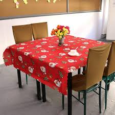 Cheap Table Linen by 150x180cm Square Printed Tablecloth Santa Claus Christmas Tree