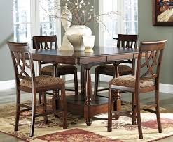 dining room round bar height dining tablewith counter height