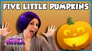 five little pumpkins halloween song for children youtube