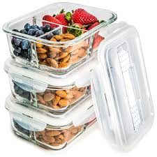 Food Storage Container Sets - glass meal prep food storage containers u2013 3 compartment container