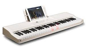 piano with light up keys the one music group tok1wht the one light keyboard 61 key portable