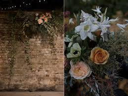 Wedding Flowers London Trinity Buoy Wharf Winter Wedding Hanging Flower Installation