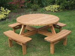round picnic table amazon co uk garden u0026 outdoors