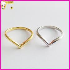 finger ring design cheap wholesale new design gold v chevron shaped finger ring 2016