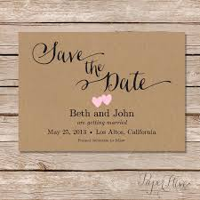 rustic save the dates rustic save the date card printable save the date digital file