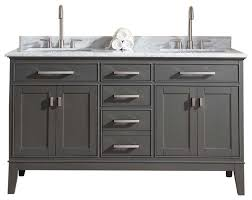 Vanity Set Transitional Bathroom Vanity Units  Sink Cabinets By - Solid wood bathroom vanity uk