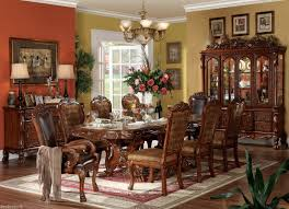 Formal Dining Room Set New 9 Pc Dresden Double Pedestal Cherry Oak Finish Formal Dining