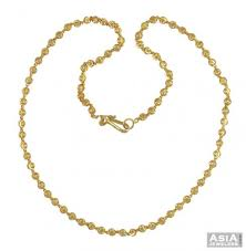 22k yellow gold balls chain ajch54737 22k gold chain beaded