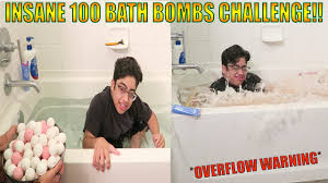 Challenge Fall In Bath 100 Bath Bombs Challenge Started Flooding