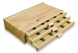 3 drawer wood supply storage box jerry s artarama