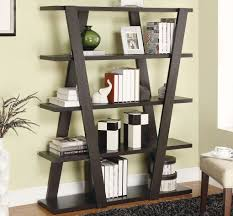 unique bookcase best extra small living room design curved wood