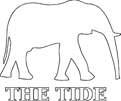 hi alabama football a elephant outline coloring page wecoloringpage