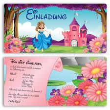 kindergeburtstagssprüche einladungen im prinzessinnen design ab 65 cent einladung