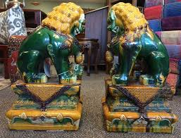 fu dog statues for sale 3ft carved solid volcanic foo dog guardian lion statues