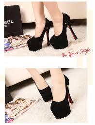 ribbon heels women high heels platform sole ribbon shoes pumps black black