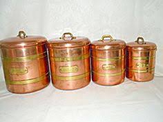 copper kitchen canister sets vintage canisters copper vtg kitchen copper real