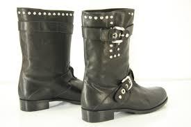 leather motorcycle boots stuart weitzman boots stuart weitzman trotter black studded